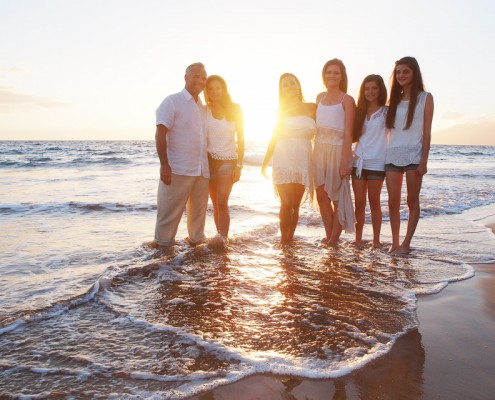 Wailea beach family photography