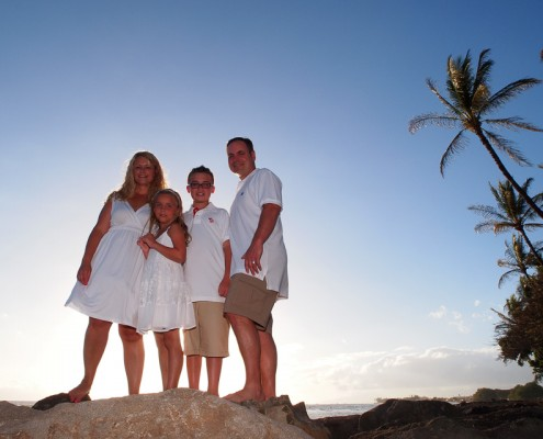 Family portraits at Launiupoko Beach Park, Maui, Hawaii