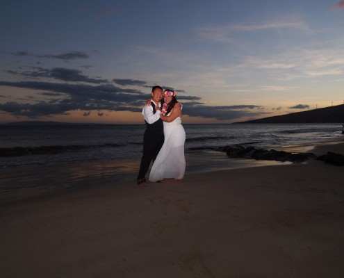 Couple Portrait Photography at Kealia Beach, Maui, Hawaii