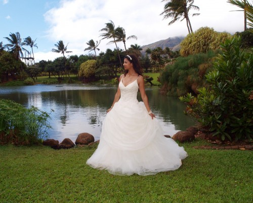 Wedding at Maui Tropical Plantation