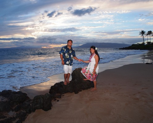 Honeymoon Photography at Polo Beach, Maui, Hawaii