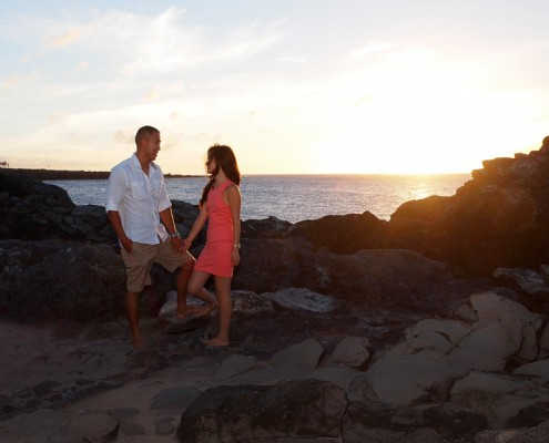 Sunset Photography at DT Fleming Beach Park, Maui, Hawaii
