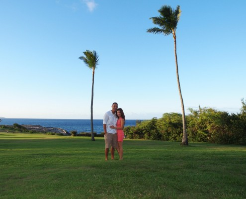 Engaged under the Palm Trees, Maui, Hawaii