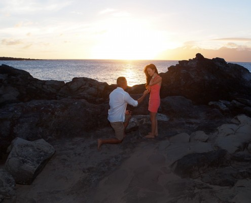 Proposal at Sunset, Maui, Hawaii