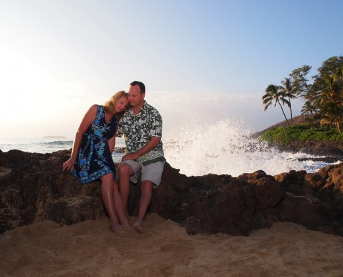 Anniversary at Makena Cove, Maui, Hawaii
