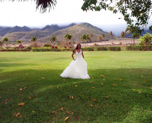Maui Tropical Plantation Wedding Dress