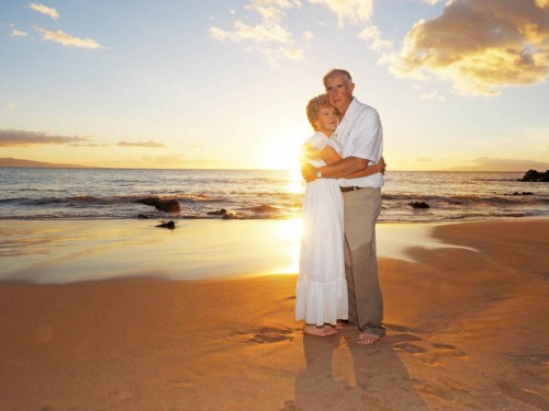 Maui Island Portraits: Maui Beach Portrait & Wedding Photography - Frequently Asked Questions - couple embraced on beach at sunset