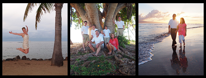 Portrait photography on Maui for individuals, couples and families