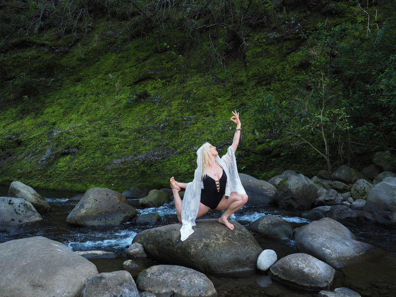Artistic Yoga at Iao Valley