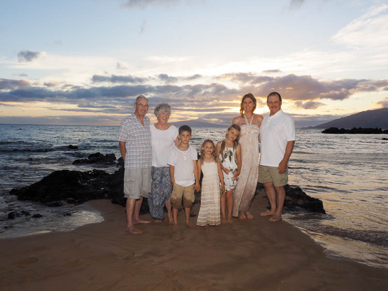The family together on Maui at Kamaole III Beach Park