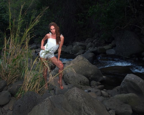 Eleya Maureen at Iao Stream