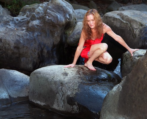 Woman Portrait at Iao Stream, Iao Valley State Park, Maui, Hawaii