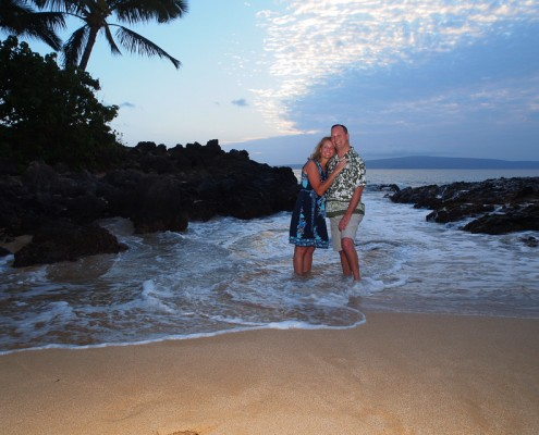 A Couple at Makena Cove, Maui, Hawaii