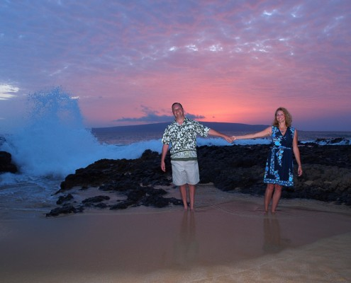 Anniversary photography at Makena Cove, Maui, Hawaii