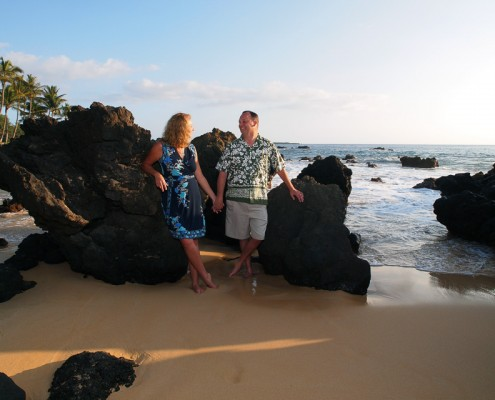 Photograph of Couple at Makena Cove, Maui, Hawaii