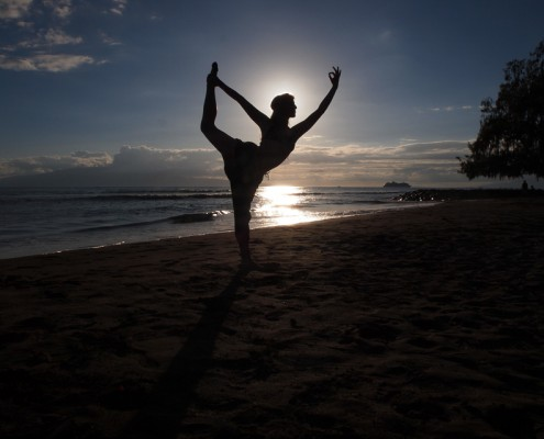 Silhouette Yoga Photo