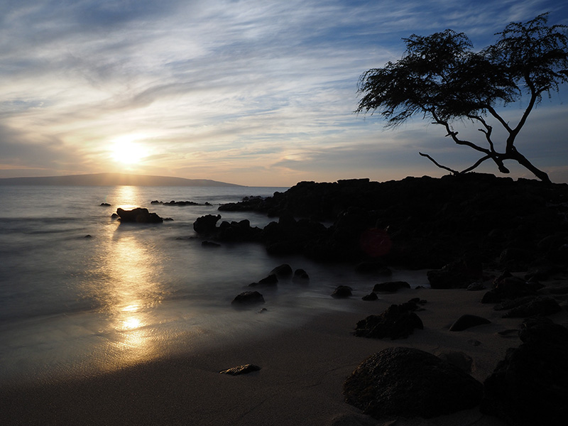 Makena, Hawaii, Beach, Sunset