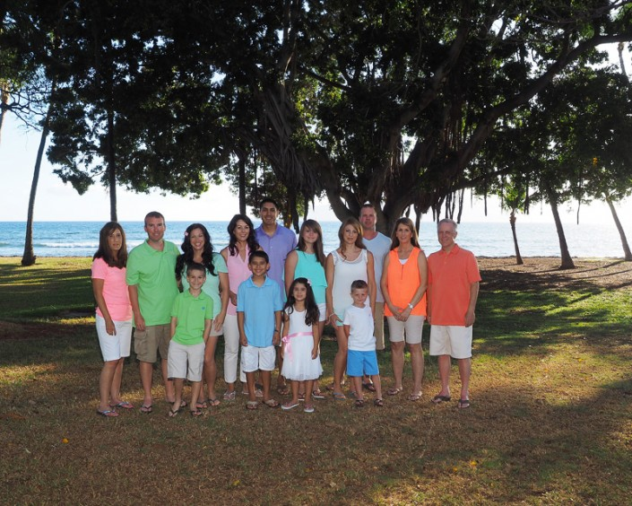 maui family photography, large family portrait