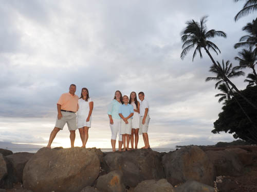 A Maui family vacation activity is portrait photography on the beach