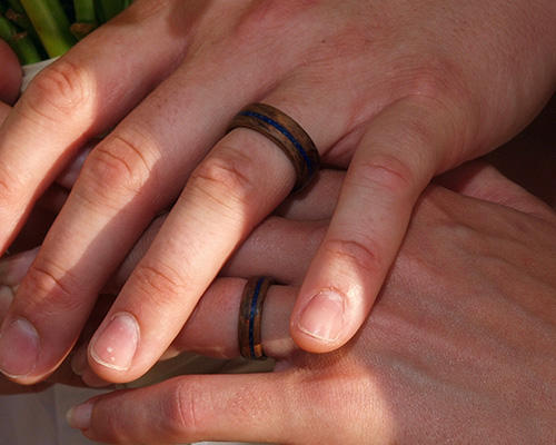 an image showing a couples hands with wedding bands
