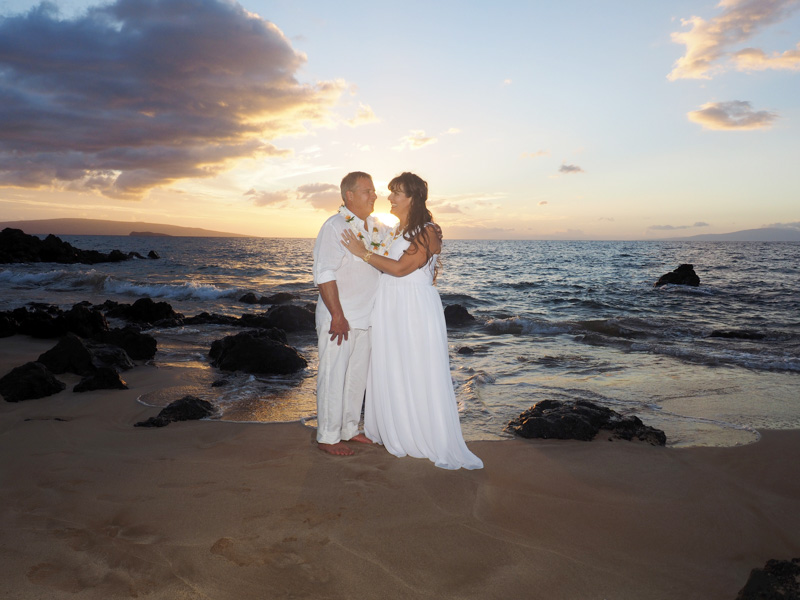 newlyweds, Maui, Hawaii, October 2016