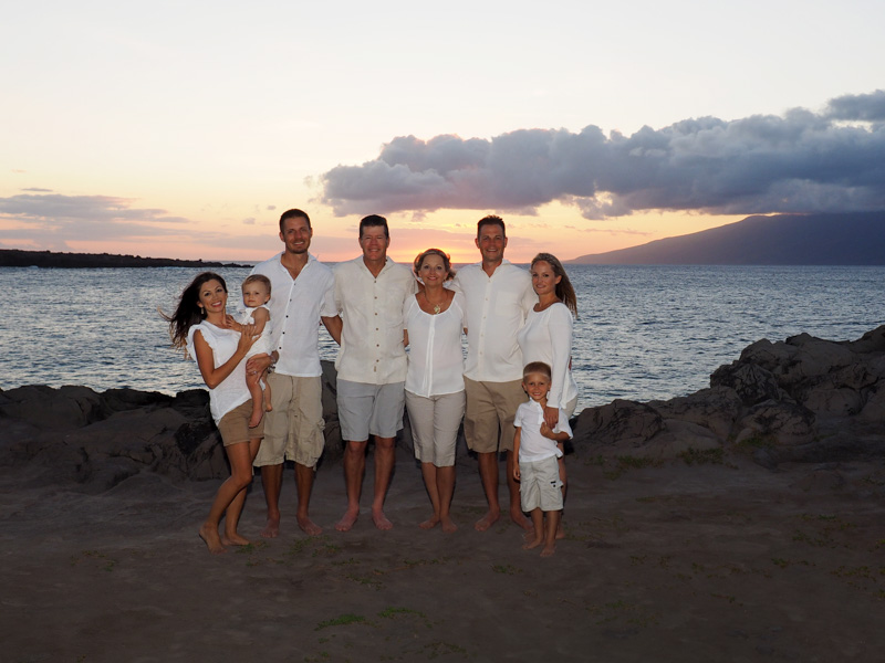 family portraits at Kapalua